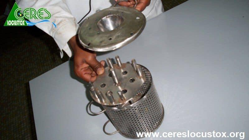 Cage de LFT pour échantillonnage passif de l'eau