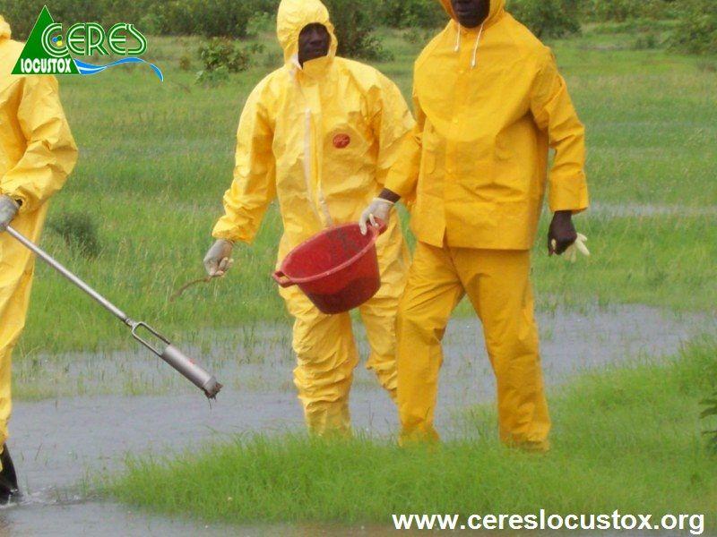 Prise échantillon sol contaminé sur site inondé 4